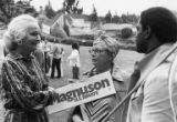 Jermaine Magnuson with Magnuson supporters, 1980