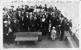 Members on boat at convention, Vasa Order of America, Hoquiam, 1917