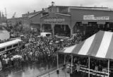 Crowd gathered at Todd Pacific Shipyards for launching of the U.S.S. BOONE (FFG-28) and H.M.A.S....
