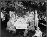 Scandinavian - American Democratic Club members, Vasa Park, Lake Sammamish, August 1, 1937