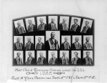 Anchor Lodge 221 past noble grands for years 1905-1915, International Organization of Odd Fellows,...