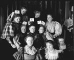 Girls holding invitations, May 23, 1895