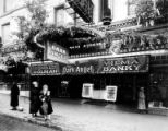 "Exterior of the Liberty Theater with marquee advertising ""The Dark Angel"", Seattle, 1925"