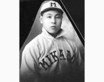 S. Omiya, Mikado baseball player, Seattle, 1911