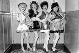 Billy DeoVoe, Robin Raye, Jackie Starr and Hotcha Hinton dressed as cowgirls at the Garden of...