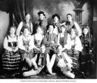 Swedish National Dance Club members, probably Seattle, ca. 1907