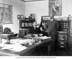 Johan Egardh and Nils Gillgren, editor, Pacific Tribune, Erickson Building, Seattle, ca. 1905