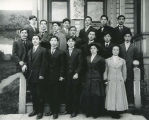Group portrait with Shungo Hirabayashi, Seattle, ca. 1909