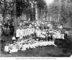 People at Swedish midsummer outing, Troy, 1910