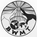 Black and White Men Together logo, Seattle, ca. 1980's
