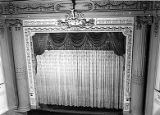 Pantages Theater interior view south from balcony showing entire stage and proscenium arch,...