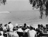 Crowd watching Gold Cup Hydroplane Race, Seafair events, August, 1952