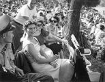 Crowds watching hydroplane races, Seafair events, August, 1952