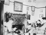 Boys reading by fireplace, Moran School for Boys, circa 1917