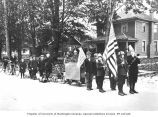 Armistice day parade, Puyallup, November 11, 1918