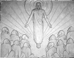 Right relief panel depicting the Ascension, Trinity Evangelical Lutheran Church, 1200 10th Ave....