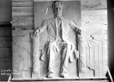 Clay model of Abraham Lincoln in studio for the Lincoln High School, Billings, Montana, circa 1940