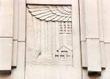 Commemorative panel representing the exploration of Puget Sound, Federal Office Building, 909...