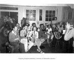 Brass band practice with onlookers, Oregon, September 1941