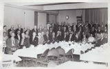 Group photo of possible retirees in banquet hall, Sept.ember 1955