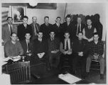 Group photo with Amalgamated Transit Union, Local 587 leadership, circa 1940s-1950s