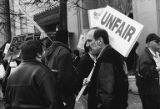 Amalgamated Transit Union, Local 587 picket over contract, April 1, 1999