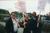 Amalgamated Transit Union, Local 587 picket over contract and wages, May 19, 1999