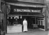 Union member Harry Dost standing outside the Baltimore Market at Broadway and East Denny in...