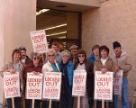 Union members Dave Arthur, Dave Box, Mary Berilla, Phyllis Navin, Dan Anderson, Esther Baxter,...
