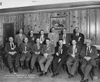 Delegates in chairs at the Washington Federation of Butchers Convention in Spokane, Washington, ...
