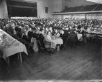 Large banquet at a convention, 50th Anniversary of Amalgamated Meat Cutters and Butcher Workmen of...