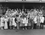 Auburn High School Class of 1935 50th Anniversary group photograph, Kent, Washington, August 24,...