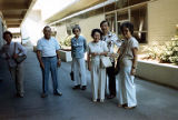 Auburn High School Class of 1935 classmates on tour of Auburn High School, Auburn, Washington,...