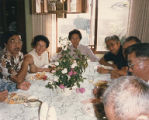 Former Auburn High School students seated around table for 50th Reunion brunch, Seattle,...