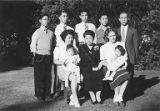 Hirabayashi family portrait with Marion and Sharon, 1946
