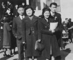 Gordon and Satoshi Hoshi with two others, ca. 1938