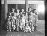 Group of children dressed in kimonos, circa 1916
