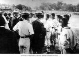 Seattle Asahi baseball team meeting with Japanese Foreign Minister Goto and Governor Inouye-Tokio,...