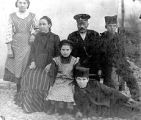 Anuška with her husband and children, probably in Serbia, circa 1900s-1920s