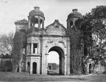 Entrance to the Sikandar Bagh, Lucknow, Oudh, Uttar Pradesh, India, circa 1850s-1870s
