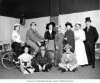 Junior Board students in costume on theater stage, Pierce County Tuberculosis League program,...