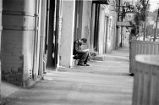 Man Reading on Commerce Street (1979)