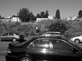 Vacant Lot at 1528 Fawcett Avenue with Men Cutting Weeds (2008)