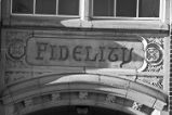 "Inscription above McCarver School South Entrance: ""Fidelity"" (2008)"
