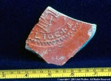 Early Byzantine inscribed plate fragment