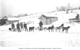 Dogsledding to the gold fields, Knik, ca. 1912