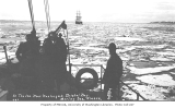 Aboard S.S. DORA, In the ice near Nushagak, Bristol Bay, Bering Sea, ca. 1912