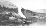 Copper company mine and dock,  LaTouche Island, Prince William Sound, ca. 1912