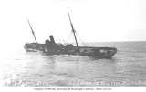 Steamship EDITH in distress from shifting load of copper concentrates, off LaTouche Island, August...
