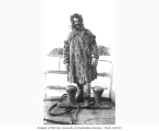 Fur trader on deck of unidentified ship, ca. 1912
